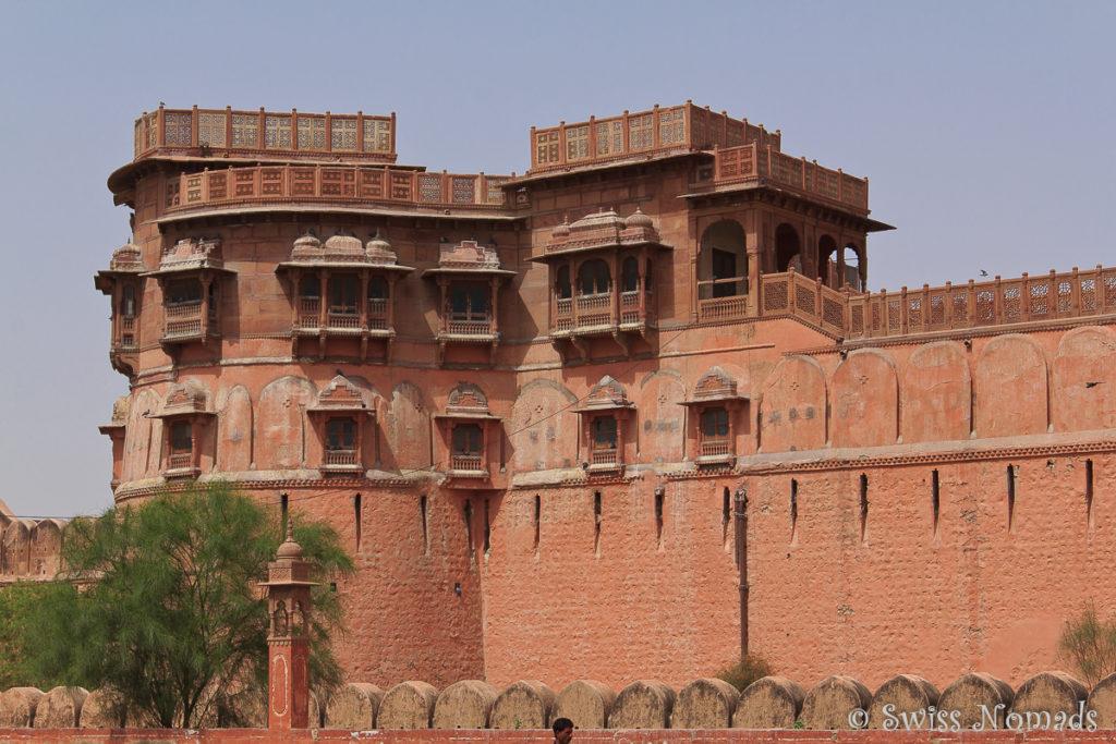 Das grosse Junagarh Fort in Bikaner ist sehr eindrücklich