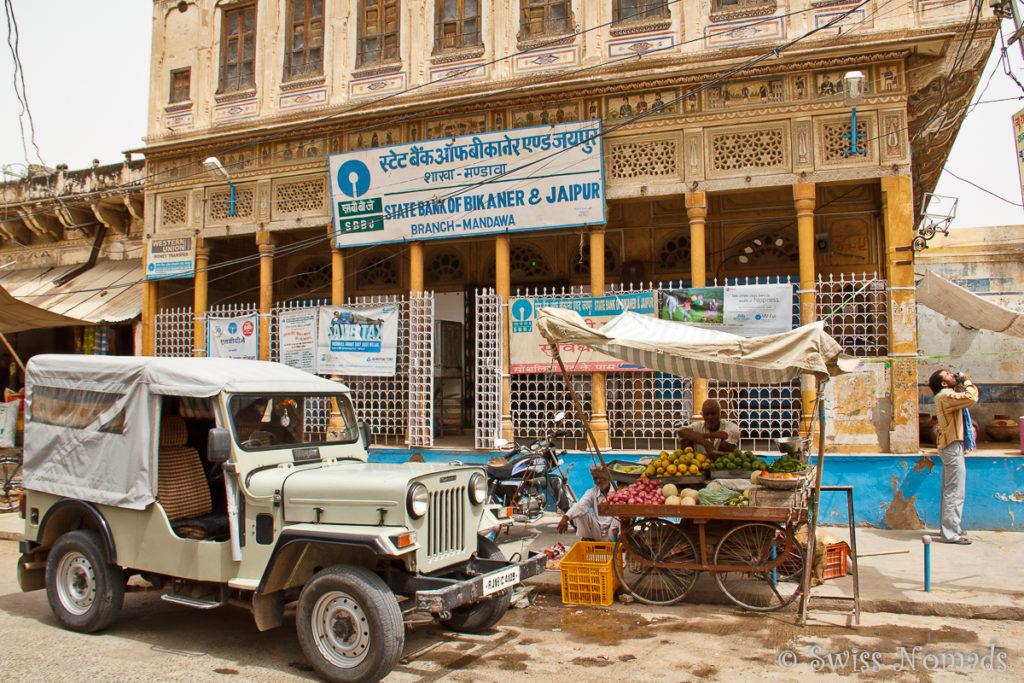 Selbst die Bank von Mandawa ist in einem Haveli untergebracht