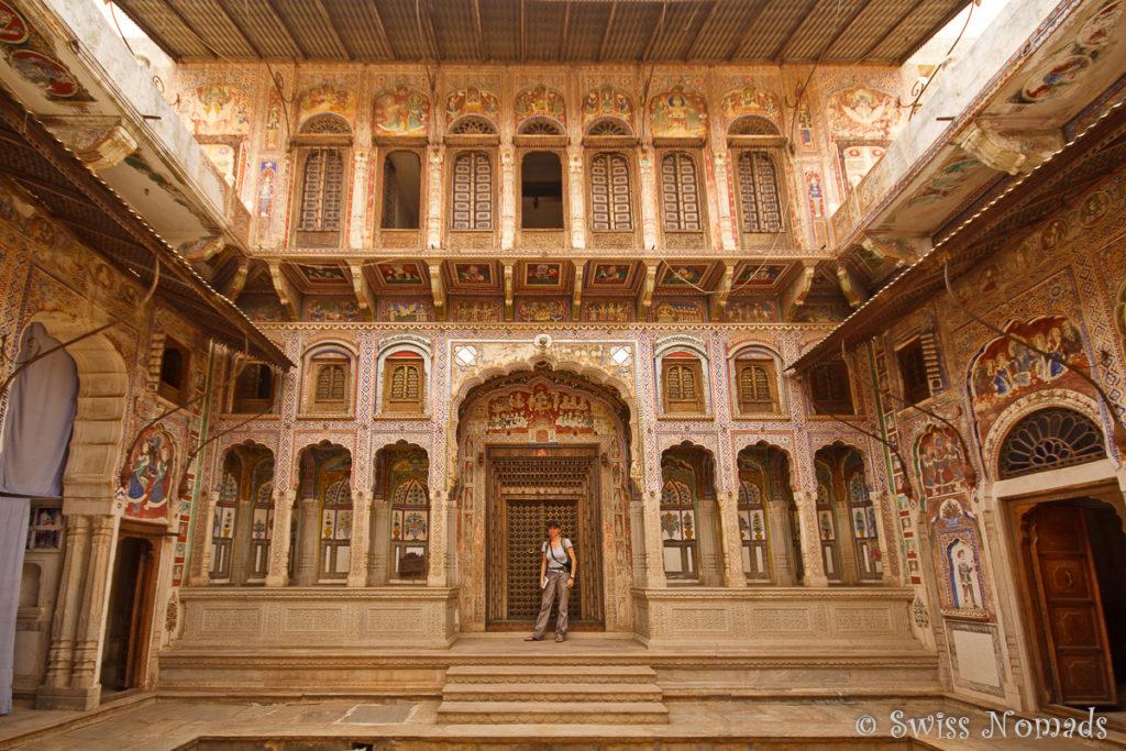 Das Morarka Haveli in Nawalgarh ist für Besucher zugänglich