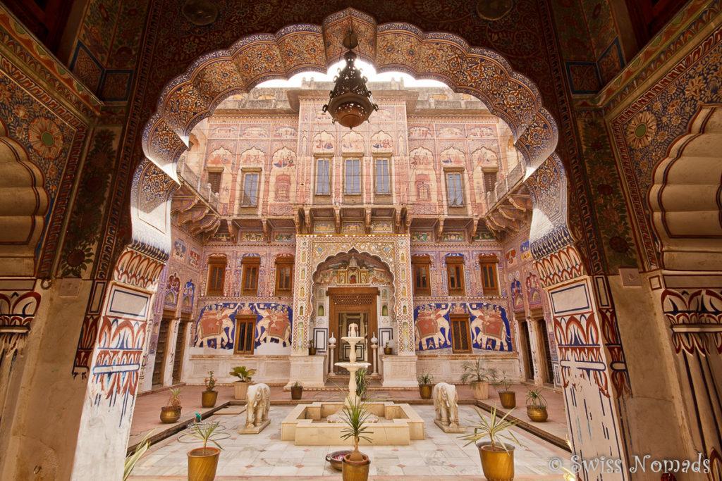 Das wunderschöne Nadine le Prince Haveli in Fatehpur