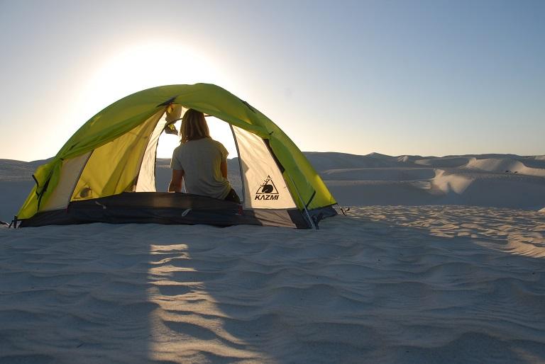 Campen am Strand Westaustralien