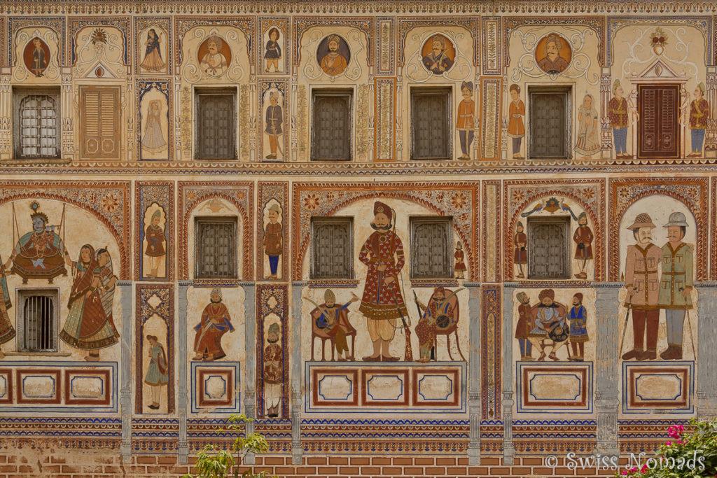 Das Podar Haveli in Nawalgarh gilt als eines der prächtigsten Hawelis