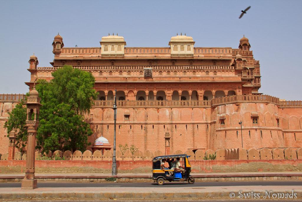 Das Junagarh Fort ist eine der Sehenswürdigkeiten in Bikaner