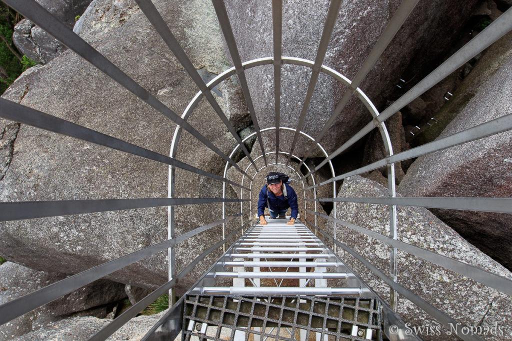 Leiter zum Castle Rock