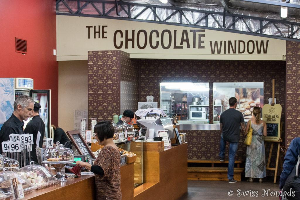 Berge von Schokolade in der Margaret River Chocolate Company