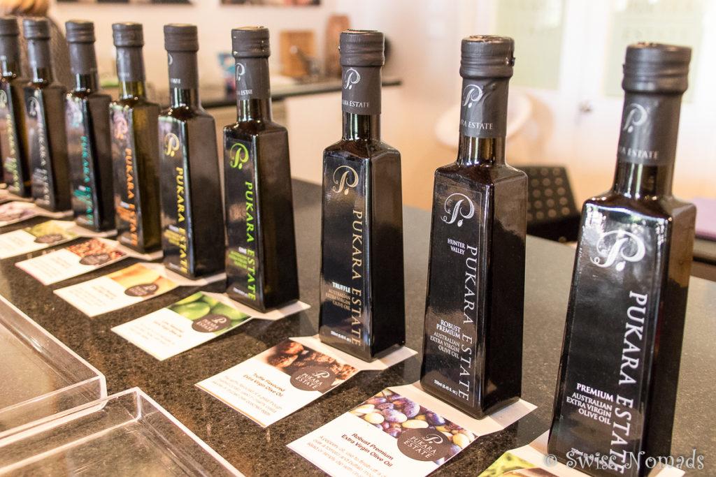 Herrliche Olivenöle bei Pukara Estate