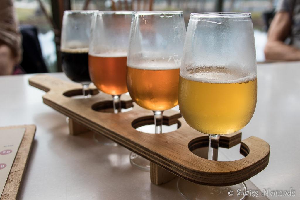 Als Abschluss unserer Margaret River Weintour probieren wir noch die Biere von The Grove