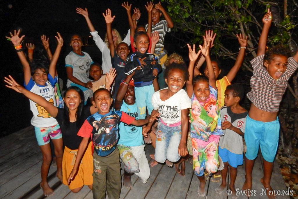 Die Lebensfreude der Kinder in Raja Ampat ist unbeschreiblich