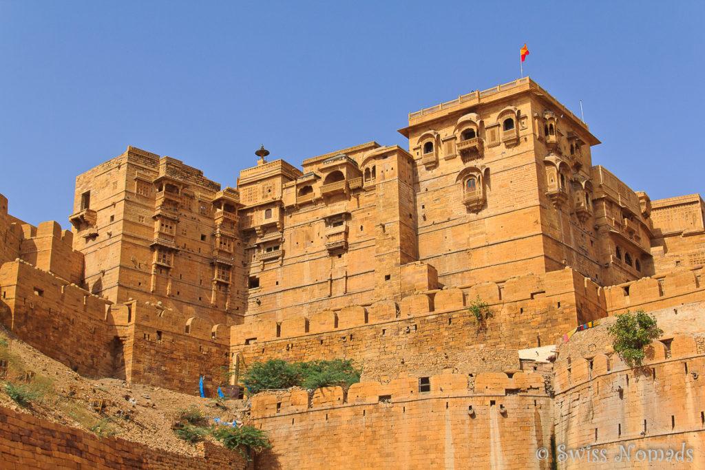 Aussicht auf das Fort in Jaisalmer in Rajasthan