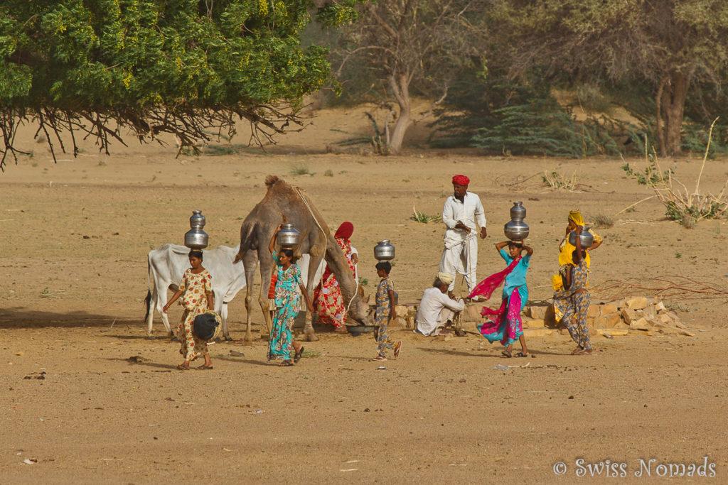 Ein Brunnen in der Thar Wüste in Rajasthan