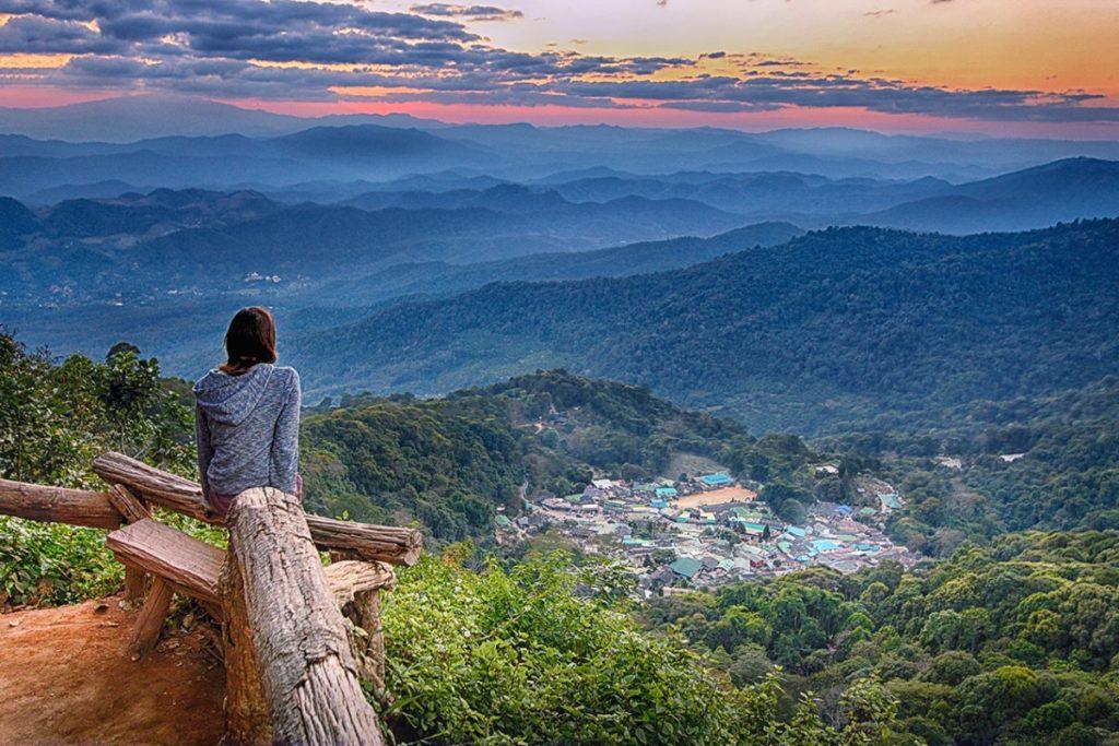 Aussicht auf Chiang Mai vom Doi Suthep