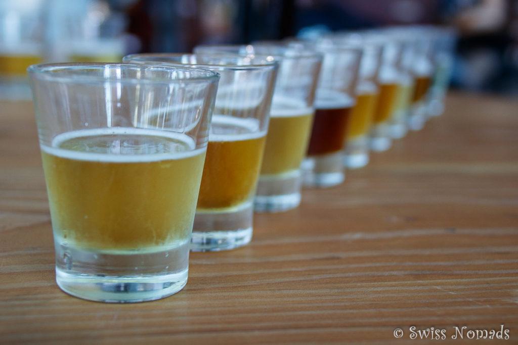 Im Little Creatures in Fremantle können die verschiedenen Biere getestet werden