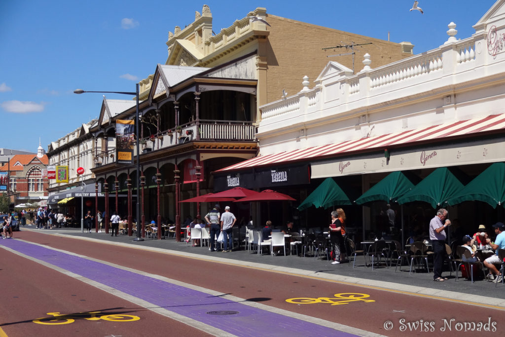 Am Cappuccino strip in Fremantle reihen sich die Restaurants aneinander