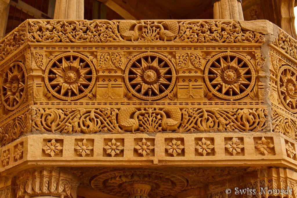 Gelber Sandstein dominiert in Jaisalmer in Rajasthan