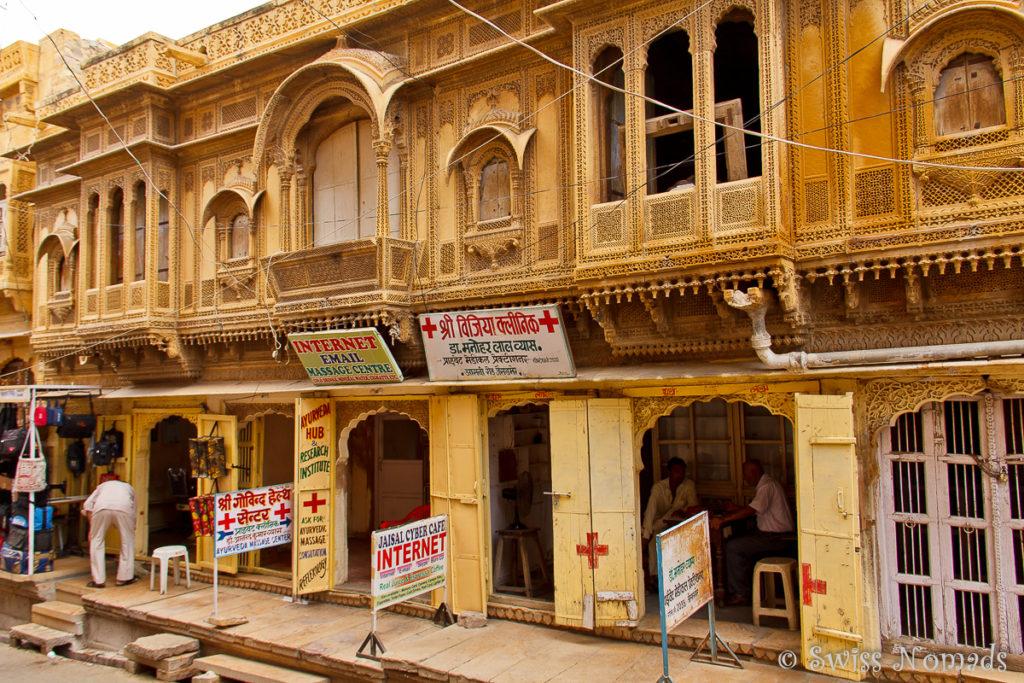 Das Fort in Jaisalmer ist bewohnt und es gibt Geschäfte