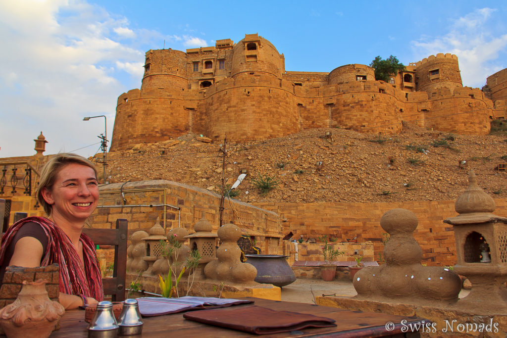 Italienisches Essen in Jaisalmer in Rajasthan