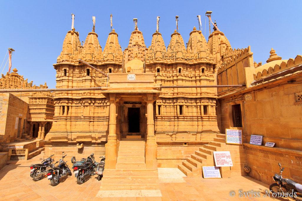 Der Jain Tempel in Jaisalmer in Rajasthan