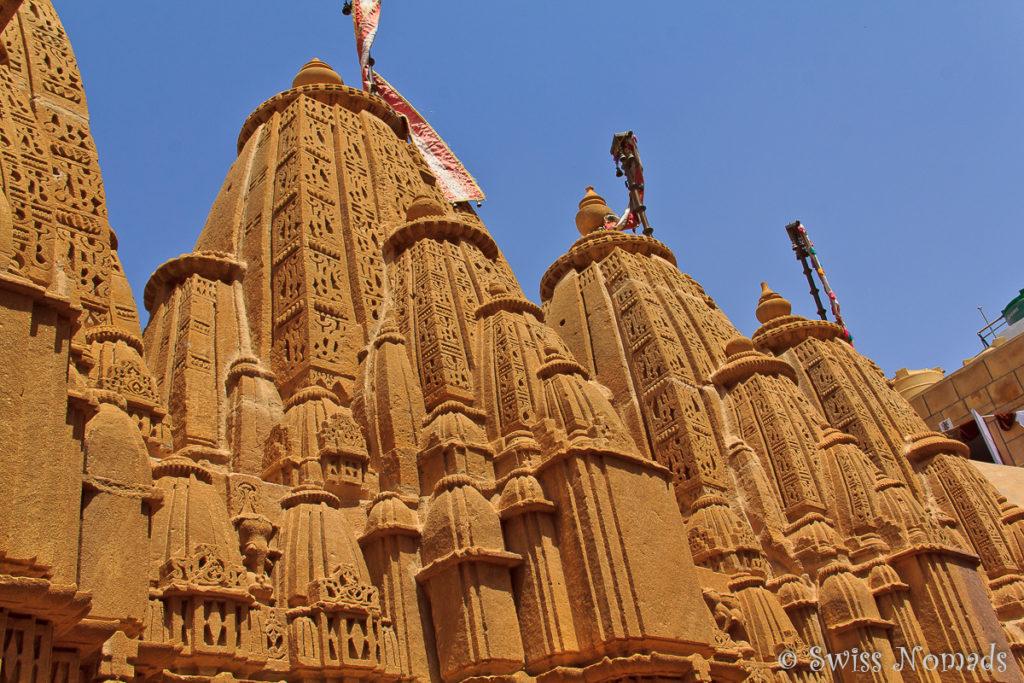 Die reich verzierten Türme des Jain Tempel in Jaisalmer