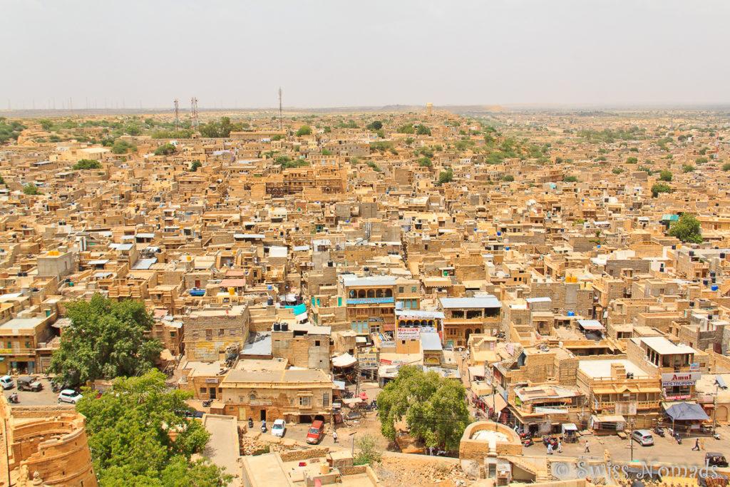 Jaisalmer in Rajasthan ist auch bekannt als die goldene Stadt