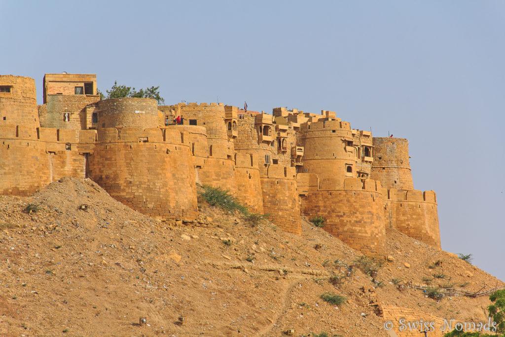 Das Jaisalmer Fort wurde mit gelbem Sandstein erbaut