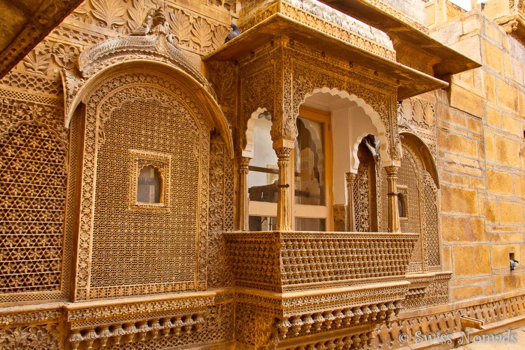 Die Jalis des Raj Mahal Jaisalmer