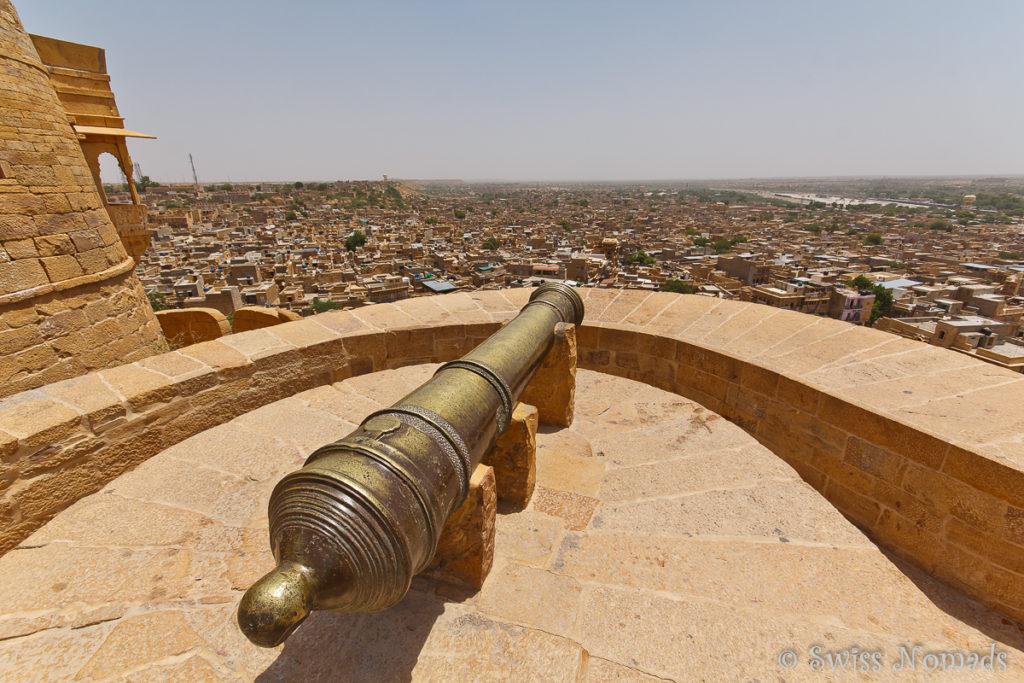 Die Kanone auf dem Jaisalmer Fort