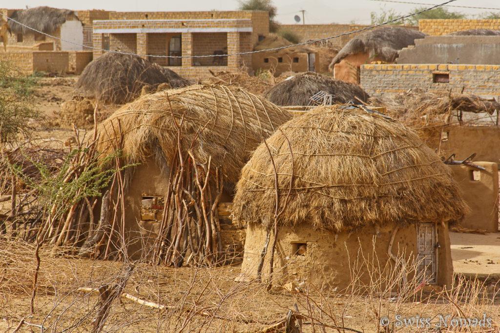 Das Dorf Khuri in der Thar Wüste in Rajasthan