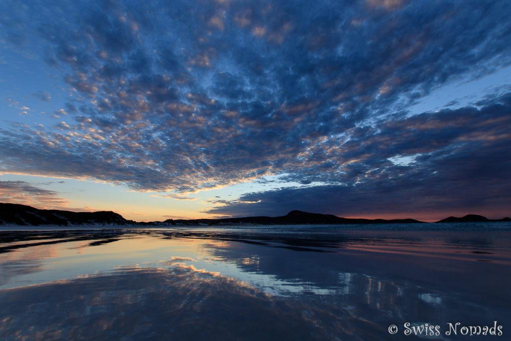 Sonnenaufgang in der Lucky Bay