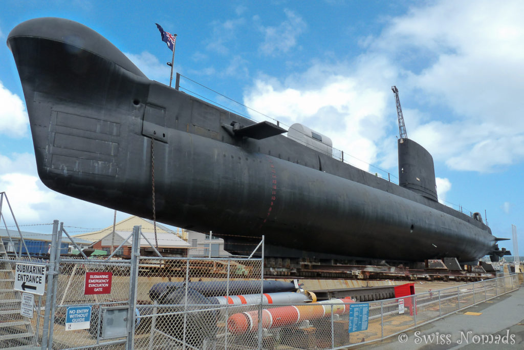 Das U-boot kann im Maritime Museum in Fremantle besichtigt werden