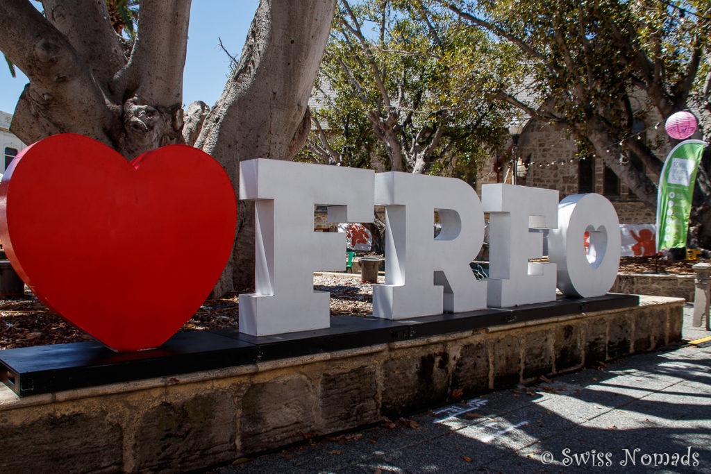 Es gibt sehr viele Sehenswürdigkeiten in Fremantle
