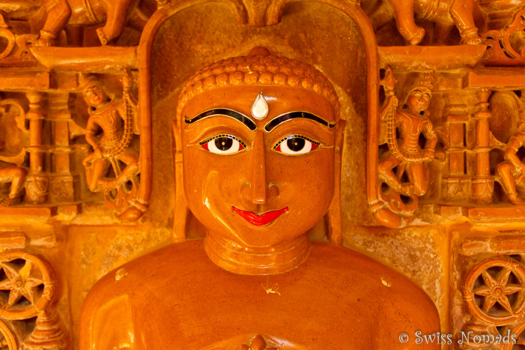 Buddha im Jain Tempel in Jaisalmer