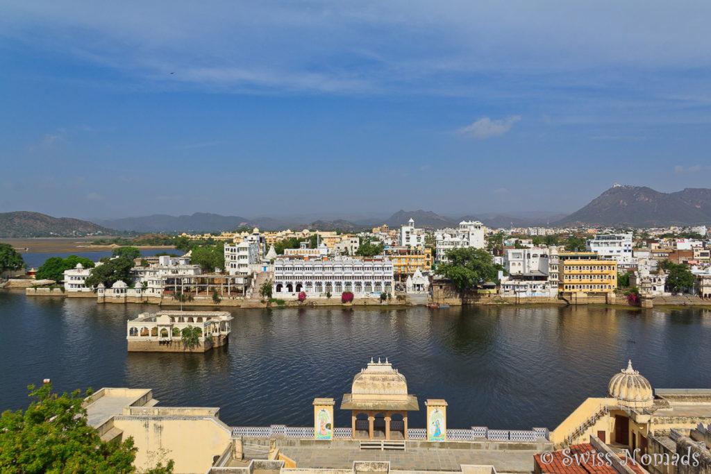 Die Aussicht von unserem Haveli in Udaipur