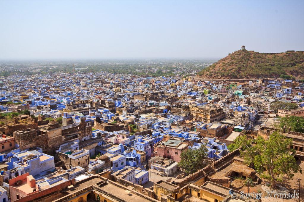Die Stadt Bundi in Rajasthan