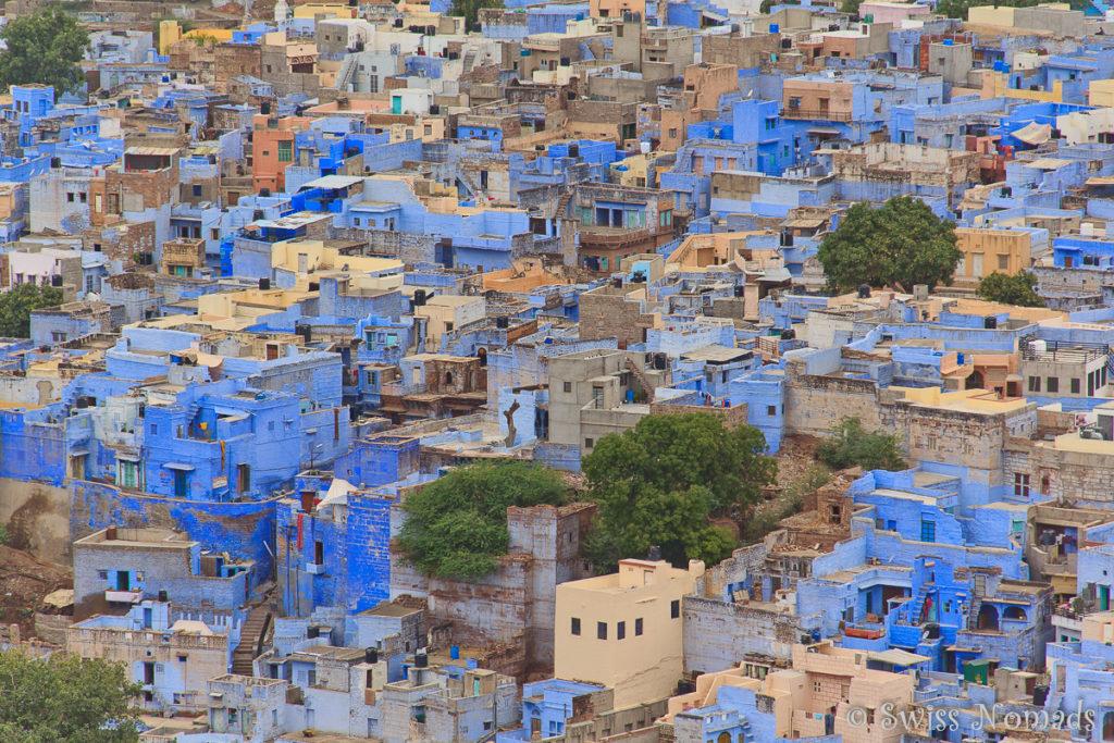 Jodhpur ist auch bekannt als die Blaue Stadt