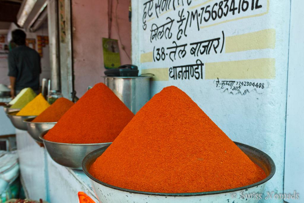 Der Gewuerz Markt ist eine Sehenswürdigkeit in Udaipur