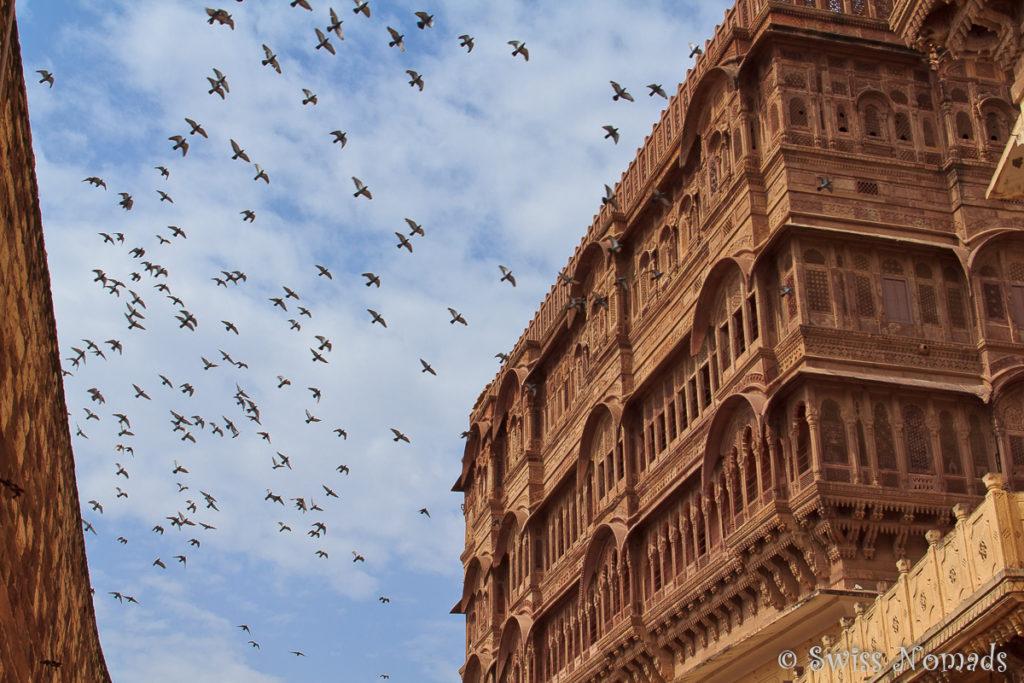 Das Mehrangarh Fort ist eine der Sehenswürdigkeiten in Jodhpur