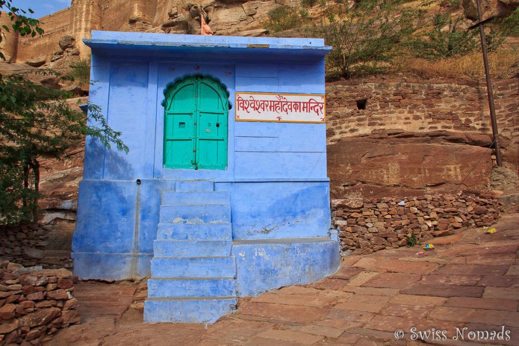 Jodhpur in Rajasthan ist auch als die blaue Stadt bekannt