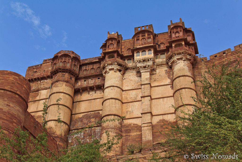 Das Fort ist eine der Sehenswürdigkeiten in Jodhpur
