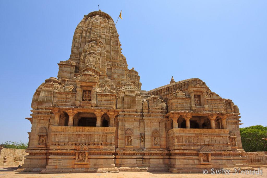 Wunderschön verzierter Kalika Mata Tempel im Chittorgarh Fort