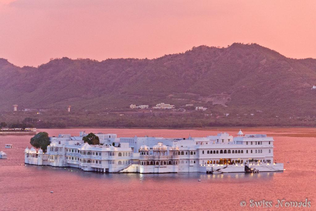 Der Lake Palace ist das Wahrzeichen von Udaipur