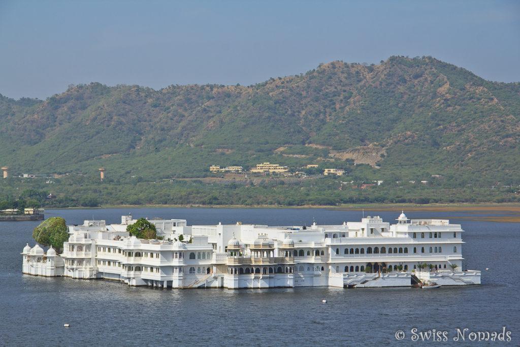 Der Lake Palace ist eine der bekanntesten Sehenswürdigkeiten in Udaipur