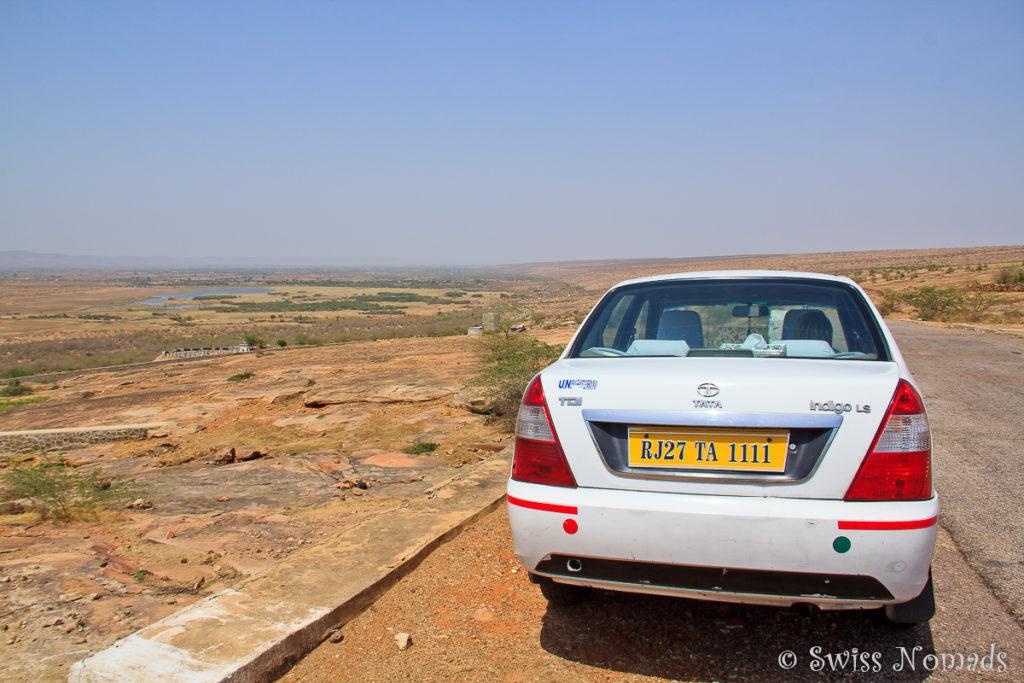 Typische Landschaft von Rajasthan in Indien