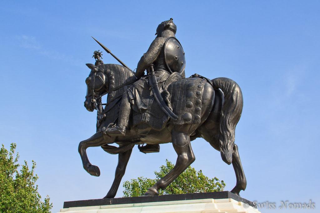 Die Statue von Maharana Pratap in Udaipur