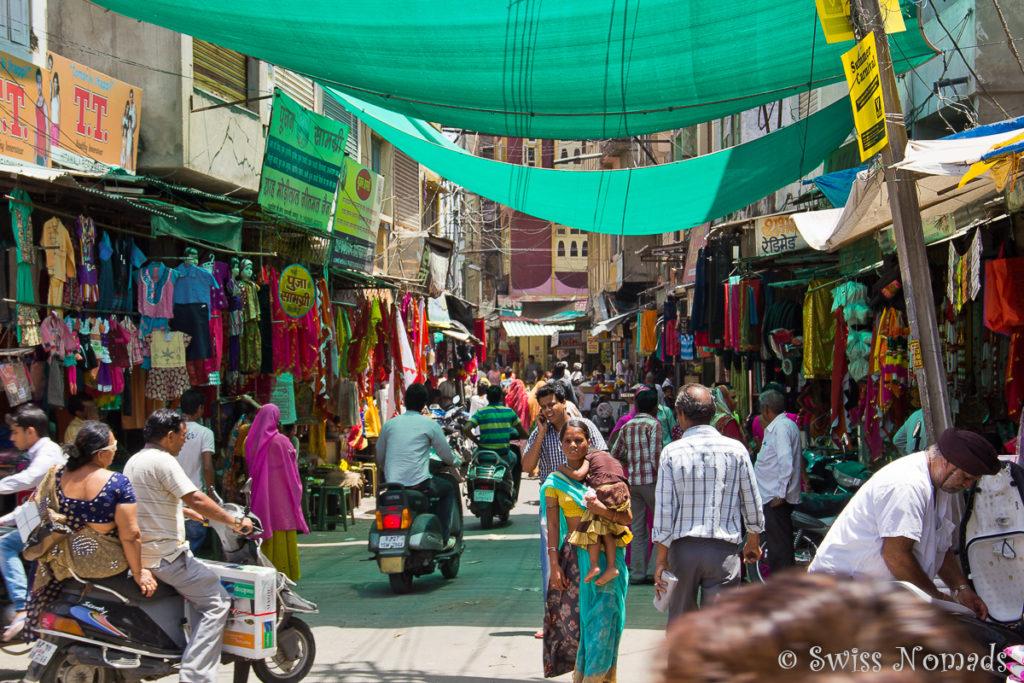 Der Markt ist eine Sehenswürdigkeit in Udaipur