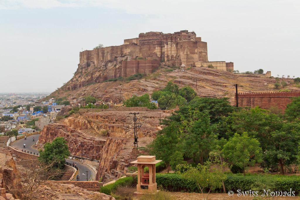 Das eindrückliche Mehrangarh Fort in Jodhpur