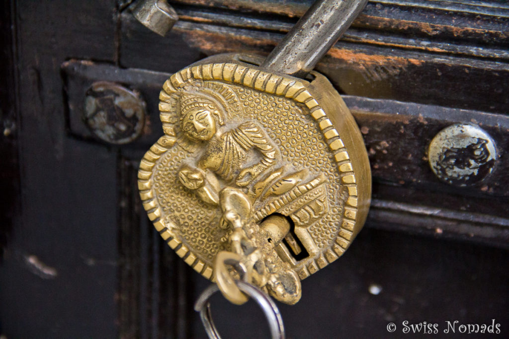 Türschloss im Haveli Seventh Heaven in Pushkar