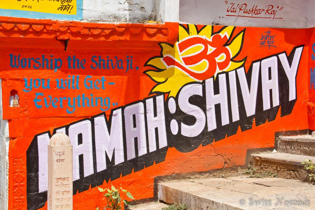 Heilige Werbung am Pushkar See