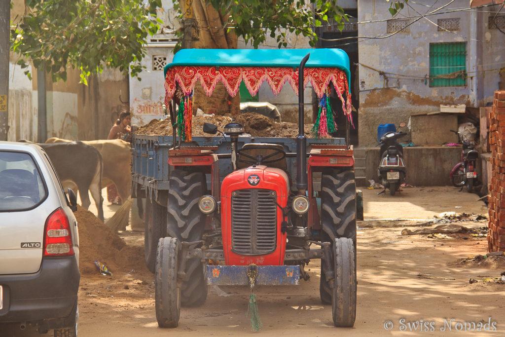 Typisches Strassenbild in der heiligen Stadt Pushkar