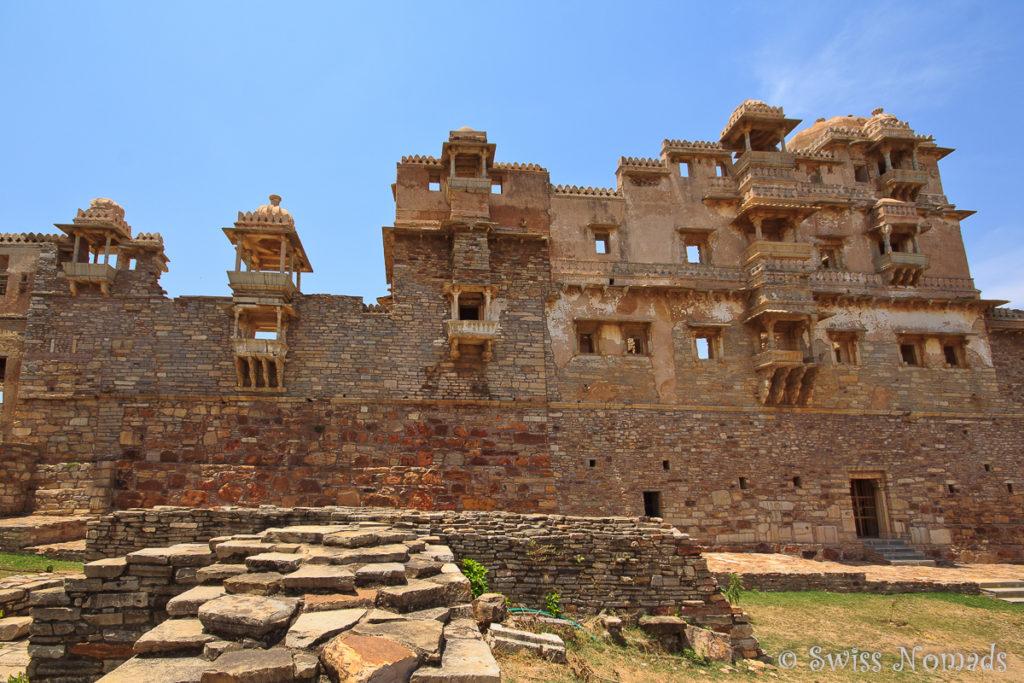Der Rana Kumbha Palast im Chittorgarh Fort