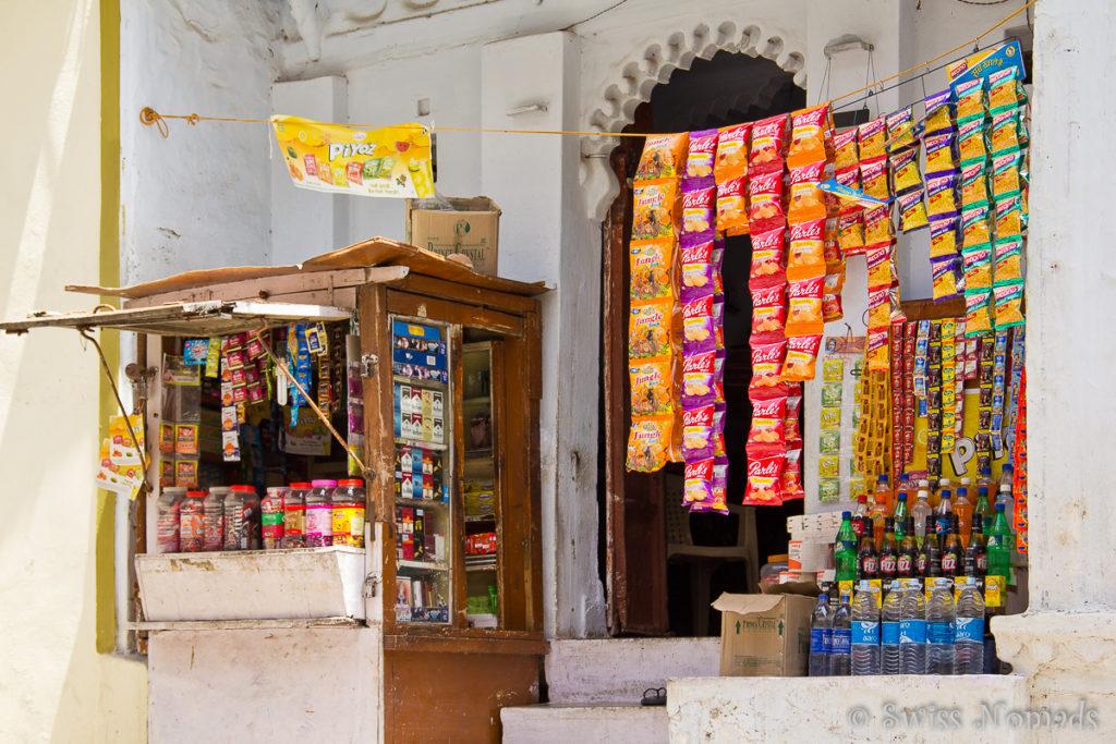 Kleine Verkaufsstände in Udaipur